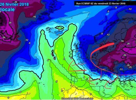 Aggiornamento modelli GFS e ECMWF 23/02/2018