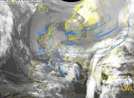 Lago gelido a spasso in Centro Europa poi freddo verso l'Italia grazie al minimo sul Mediterraneo
