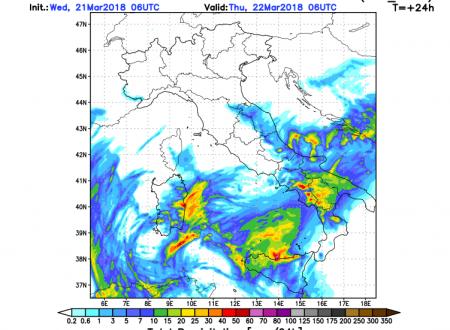 Neve abbondante domani a quote medie tra Basilicata e Campania