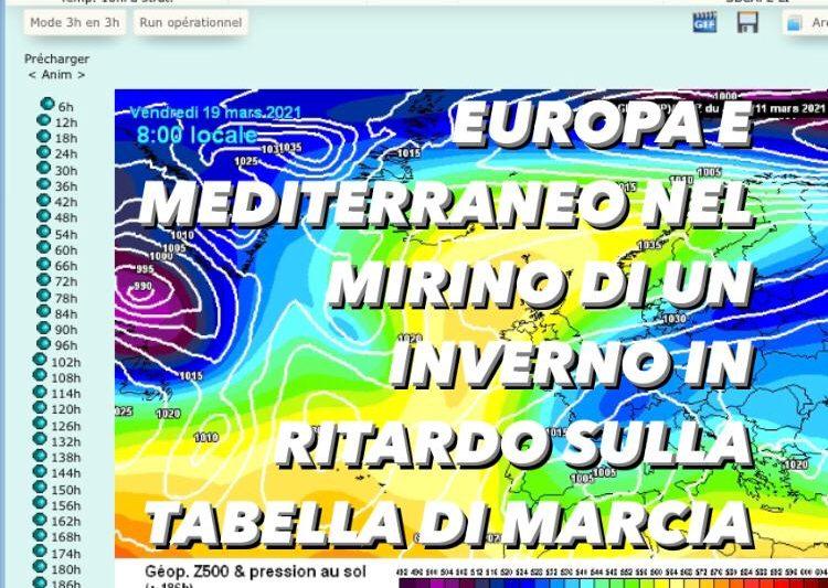 Europa e mediterraneo nel mirino di un inverno in ritardo sulla tabella di marcia